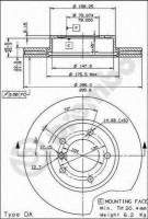Комплект тормозных дисков BREMBO 09.5390.34 (2 шт.)