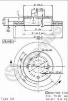 Комплект тормозных дисков BREMBO 09.5449.14 (2 шт.)