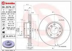 Комплект тормозных дисков BREMBO 09.5579.21 (2 шт.)