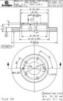 Фото товара 1 - Комплект тормозных дисков BREMBO 09.5584.14 (2 шт.)