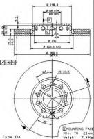 Фото 1 - Комплект тормозных дисков BREMBO 09.5745.24 (2 шт.)