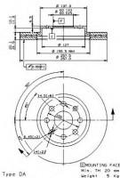 Комплект тормозных дисков BREMBO 09.5843.34 (2 шт.)