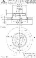 Комплект тормозных дисков BREMBO 09.5875.10 (2 шт.)