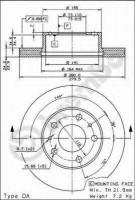 Комплект тормозных дисков BREMBO 09.5904.14 (2 шт.)