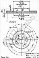 Комплект тормозных дисков BREMBO 09.6752.20 (2 шт.)