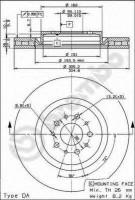 Комплект тормозных дисков BREMBO 09.6843.21 (2 шт.)
