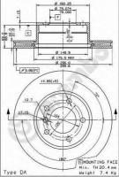Комплект тормозных дисков BREMBO 09.6924.11 (2 шт.)