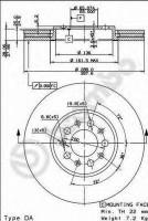 Комплект тормозных дисков BREMBO 09.7010.20 (2 шт.)