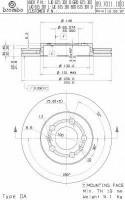 Комплект тормозных дисков BREMBO 09.7011.14 (2 шт.)