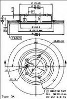 Комплект тормозных дисков BREMBO 09.7701.11 (2 шт.)