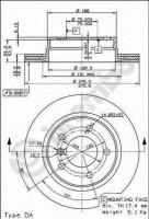 Комплект тормозных дисков BREMBO 09.7727.10 (2 шт.)