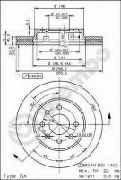 Комплект тормозных дисков BREMBO 09.7820.10 (2 шт.)
