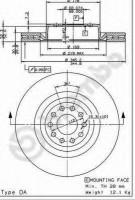 Комплект тормозных дисков BREMBO 09.7941.11 (2 шт.)