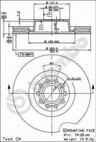 Комплект тормозных дисков BREMBO 09.8324.11 (2 шт.)