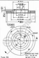 Комплект тормозных дисков BREMBO 09.8695.14 (2 шт.)