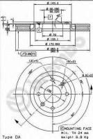 Комплект тормозных дисков BREMBO 09.8760.10 (2 шт.)