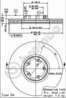 Комплект тормозных дисков BREMBO 09.8837.14 (2 шт.)