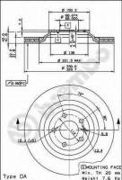 Комплект тормозных дисков BREMBO 09.8842.20 (2 шт.)