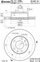 Комплект тормозных дисков BREMBO 09.8931.20 (2 шт.)