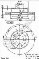 Комплект тормозных дисков BREMBO 09.8932.10 (2 шт.)