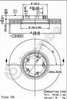 Комплект тормозных дисков BREMBO 09.8960.10 (2 шт.)