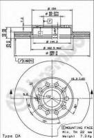 Комплект тормозных дисков BREMBO 09.9145.11 (2 шт.)