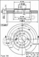 Комплект тормозных дисков BREMBO 09.9165.10 (2 шт.)