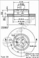 Комплект тормозных дисков BREMBO 09.9166.10 (2 шт.)