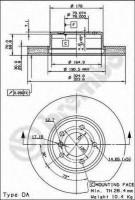 Комплект тормозных дисков BREMBO 09.9172.14 (2 шт.)