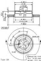 Комплект тормозных дисков BREMBO 09.9352.10 (2 шт.)