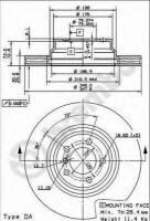Комплект тормозных дисков BREMBO 09.9355.11 (2 шт.)