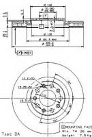 Комплект тормозных дисков BREMBO 09.9363.20 (2 шт.)