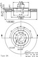 Комплект тормозных дисков BREMBO 09.9365.10 (2 шт.)