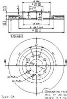 Комплект тормозных дисков BREMBO 09.9366.10 (2 шт.)