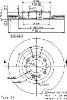 Комплект тормозных дисков BREMBO 09.9366.20 (2 шт.)