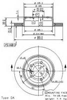 Комплект тормозных дисков BREMBO 09.9425.11 (2 шт.)