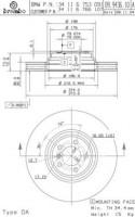 Комплект тормозных дисков BREMBO 09.9436.11 (2 шт.)
