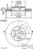 Комплект тормозных дисков BREMBO 09.9464.11 (2 шт.)