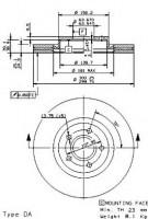 Комплект тормозных дисков BREMBO 09.9468.11 (2 шт.)