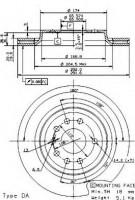 Комплект тормозных дисков BREMBO 09.9505.10 (2 шт.)