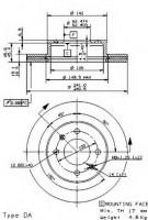 Комплект тормозных дисков BREMBO 09.9537.20 (2 шт.)
