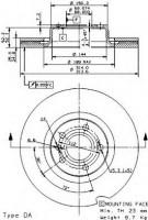 Комплект тормозных дисков BREMBO 09.9540.14 (2 шт.)