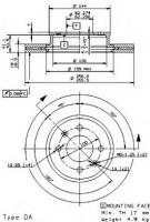 Комплект тормозных дисков BREMBO 09.9541.10 (2 шт.)