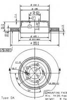 Комплект тормозных дисков BREMBO 09.9573.10 (2 шт.)