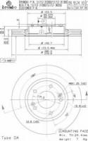 Комплект тормозных дисков BREMBO 09.9574.10 (2 шт.)