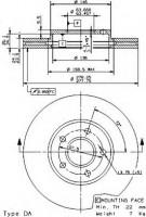 Комплект тормозных дисков BREMBO 09.9589.14 (2 шт.)