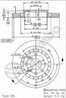 Комплект тормозных дисков BREMBO 09.9608.24 (2 шт.)