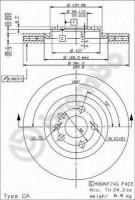 Комплект тормозных дисков BREMBO 09.9609.24 (2 шт.)