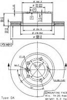 Комплект тормозных дисков BREMBO 09.9750.14 (2 шт.)