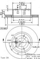 Комплект тормозных дисков BREMBO 09.9752.14 (2 шт.)